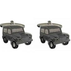 Cufflinks with off-road vehicles