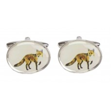 Cufflinks with foxes, rustic foxes