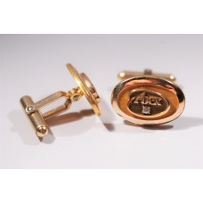 Abex cufflinks, goldplated, with small zircon