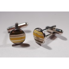 Vintage cufflinks from the 1960s, various shades of beige