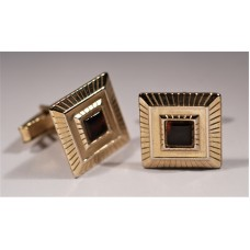Vintage cufflinks from the 1950s. Square, with radial stripes