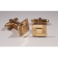 Vintage cufflinks from the 1950s. Small and golden