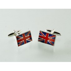 Cufflinks with the flag of Great Britain, English