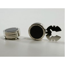 New button covers, onix color, like cufflinks.