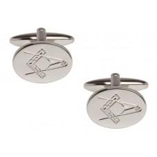 Masonic, oval cufflinks