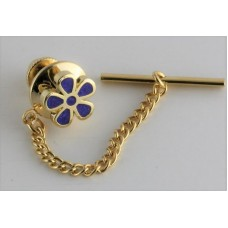 Masonic tie pin with Forget Me Not.