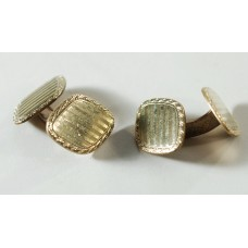 Vintage cufflinks DOUBLE, German, 50s Double sided, Deco