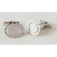 Vintage cufflinks. 50s, satin with oval frame