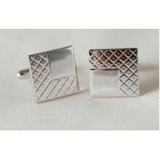 SWANK vintage cufflinks, 60s. A game of squares