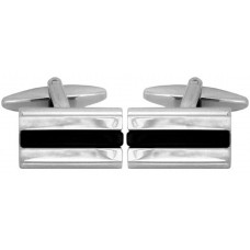 Cufflinks with black lucite insert