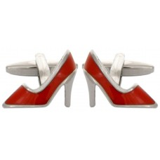 Cufflinks with high-heeled shoes, very high
