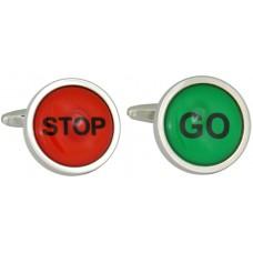 Traffic light cufflinks. Stop and go
