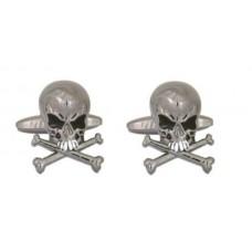 Cufflinks with skulls, very angry skulls (with bones)