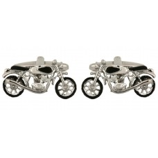 Cufflinks with motorbike, bike, for motorcyclists, bikers