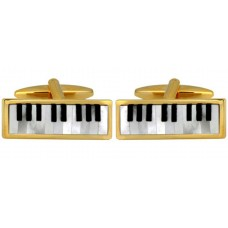 Cufflinks: piano keyboard, piano, onyx mother of pearl