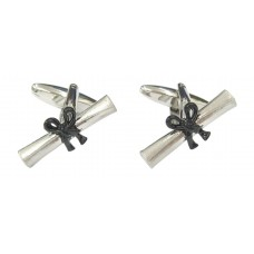 Cufflinks with parchment. For recent graduates or important awards