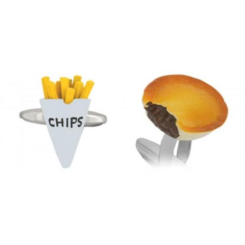 Gemelli che raffigurano un classico del fast food inglese p - In volo gemelli diversi ...