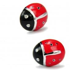 Cufflinks with red ladybugs
