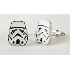 Cufflinks with Stormtrooper helmet, from Star Wars