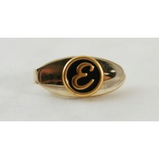 Vintage tie-bar, 50s, with the initial letter E